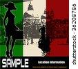 Italian Travel Flyer - stock photo