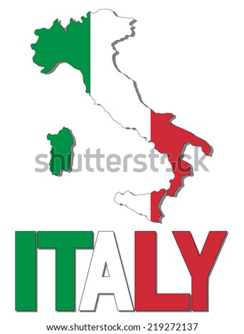 Italy Map Italy Flag Stock Illustration Shutterstock - Juventus italy map