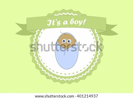 Its a boy card with a little black boy