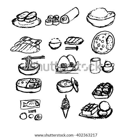junk food doodle stock vector 98354468 shutterstock. Black Bedroom Furniture Sets. Home Design Ideas