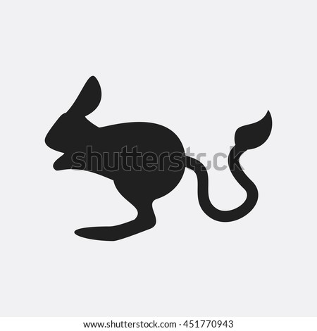 Jerboa icon illustration isolated vector sign symbol
