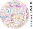 JOB. Word collage on white background. Illustration with different association terms. - stock photo