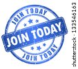 Join today vector stamp - stock photo