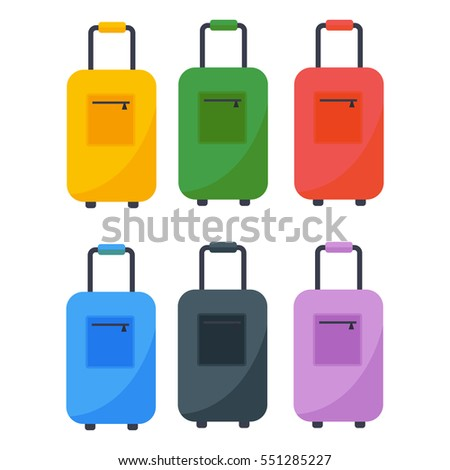 Journey suitcase travel bag vector.