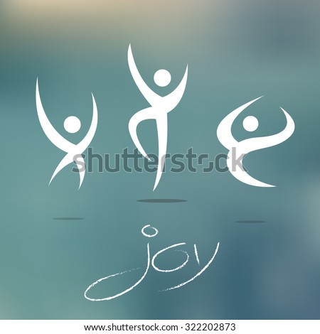 Joy and Happiness Vector Icons Set