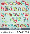 joyful font - stock vector