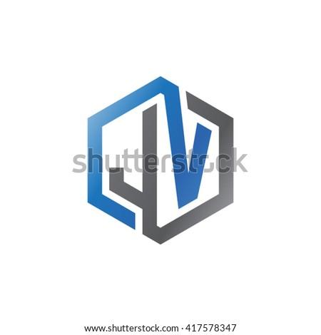 jv hisano template vn sign letter m branding identity corporate stock vector