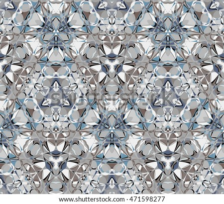 Kaleidoscope seamless pattern. Composed of abstract elements. Useful as design element for texture and artistic compositions.