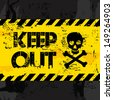keep out over black background vector illustration  - stock photo