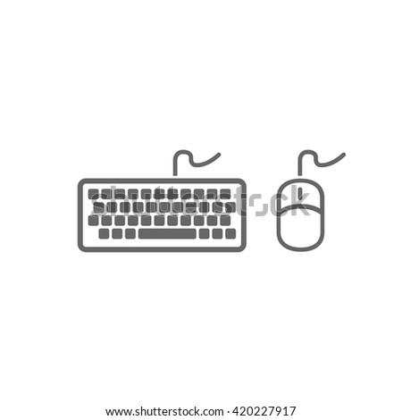 Keyboard icon. Mouse icon