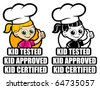 Kid Tested Icon / Mark / Seal. Version Girl Cooker - stock photo