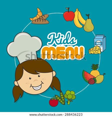 Food Products Logo Boy Blue Background