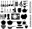Kitchen and cooking tools utensils - stock photo