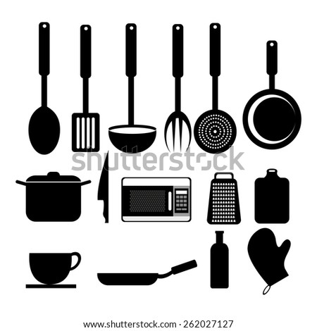 Kitchen design over white background, vector illustration.