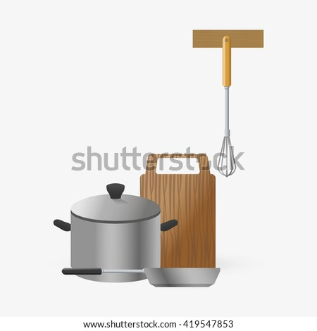 Kitchen Design. Supplies Icon. White Background, Vector Illustration Part 77