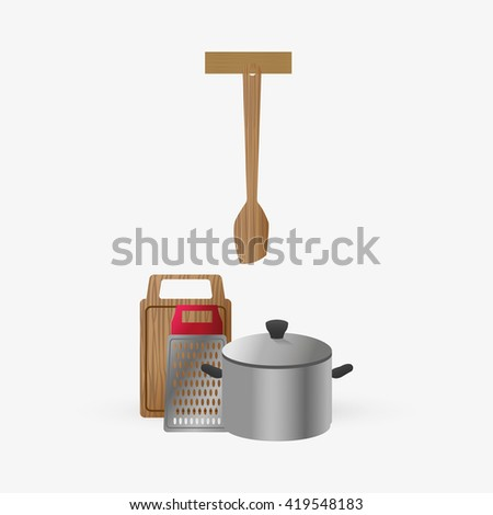 Kitchen Design. Supplies Icon. White Background, Vector Illustration Part 76