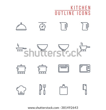 Cooking Icons Stock Vector 196340477 - Shutterstock