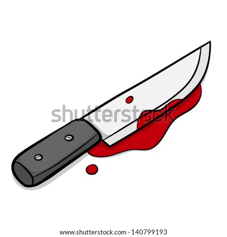 stock vector knife and blood cartoon vector and illustration isolated on white background 140799193 - Unique Cleaver Style Knives