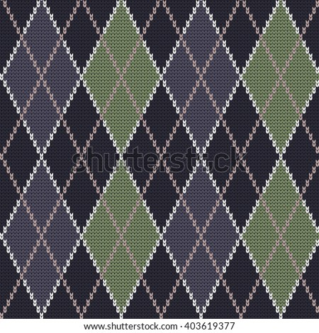 Knit Argyle Pattern : Argyle Pattern On Sweater Stock Photo 23259142 - Shutterstock