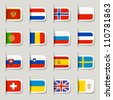 Label - European Flags - stock photo