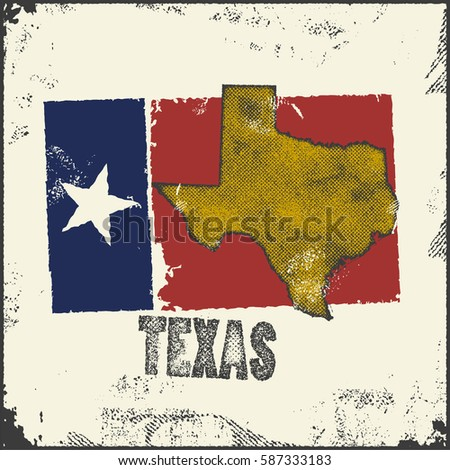 Texas Vector Map Stamp Retro Distressed Stock Vector - Large image map of us vector labels