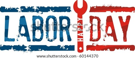 Labor day stamp