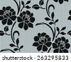 Lace pattern, ornamental flowers,seamless lace pattern. - stock vector