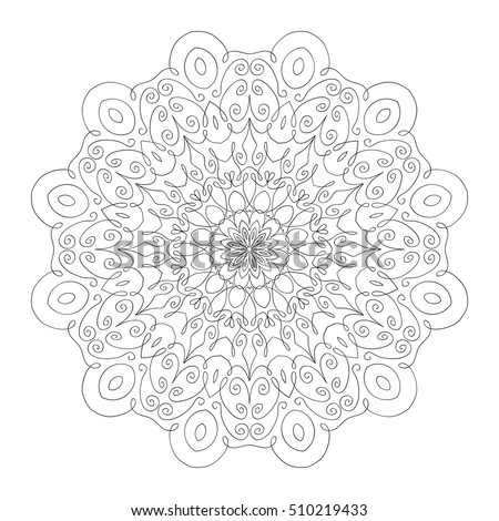 adult coloring page for art therapy lacy hand drawn hexagon pattern adult coloring book page mandala ornament made of calligraphic - Art Therapy Coloring Pages Mandala