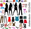 Lady's world -accesory, vectors work - stock photo