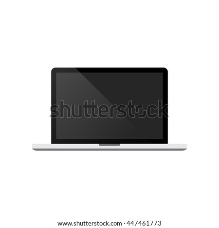 Laptop isolated on white background vector illustration