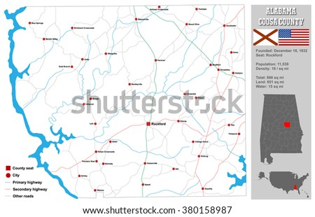 Large Detailed Map State Pennsylvania All Stock Vector - Detailed map of alabama