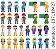 Large Vector Collection of Career and Professional People - stock photo