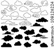 Large Vector Set of Clouds - stock vector
