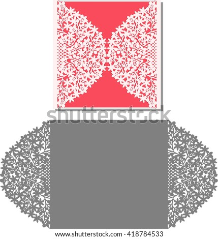 Laser Cut Invitation Card Lasercut Pattern Stock Vector 419842939