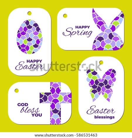 Laser cut template easter gift tags stock vector 586530956 laser cut template for easter gift tags or greeting cards the egg butterfly negle Image collections