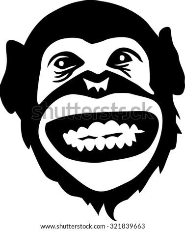 Gorilla Silhouette Sit...