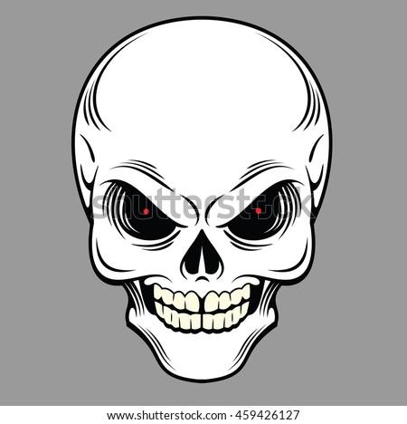 vector skull stock vector 241598383 shutterstock. Black Bedroom Furniture Sets. Home Design Ideas