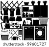 Laundry Design Set Vector - stock vector