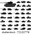 Layered vector illustration of various German Tanks which be used in World War II. - stock vector