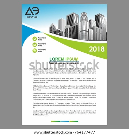 Vector brochure layout flyers design template stock vector for Nice brochure templates