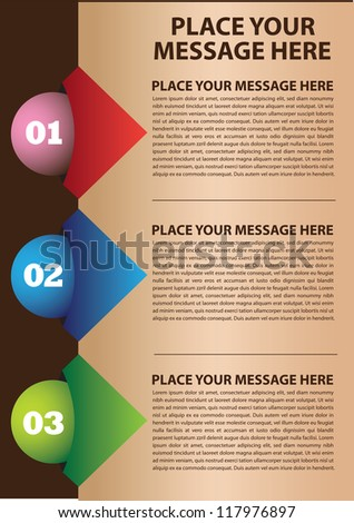 Layout design with colors and area for text. Vector illustration.