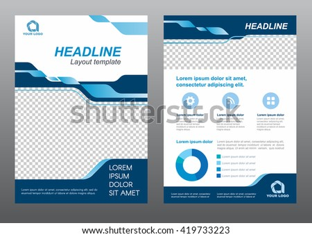 Layout Flyer Template Size A4 Cover Stock Vector 423003007