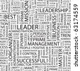 LEADER. Seamless vector pattern with word cloud. Illustration with different association terms. - stock photo