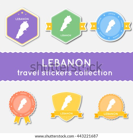 Philippines Travel Stickers Collection Big Set Stock Vector - Us state sticker map