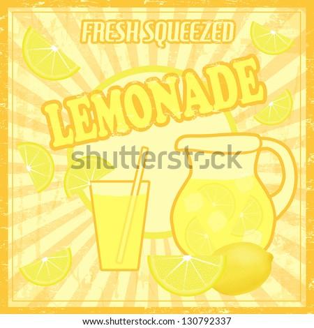 Lemonade Poster Stock Vector 376071409 - Shutterstock