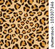 Leopard seamless background for your design. EPS 8 vector illustration. - stock vector