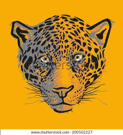 jaguar face illustration - photo #10