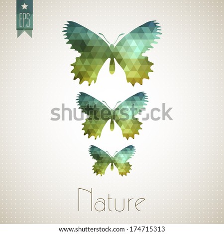 Lepidoptera butterfly abstract