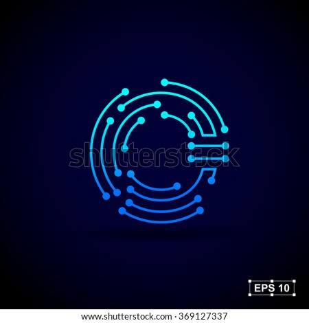 Letter O Logo Design Templatetechnology Abstract Stock ...