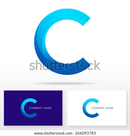 design icon letter c business card stock vector 281472842 shutterstock. Black Bedroom Furniture Sets. Home Design Ideas
